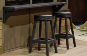 view of bar stools