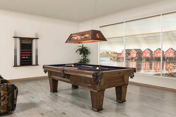 classic style billiard table with dark top