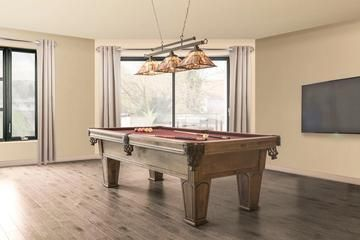 a classic style billiard table with light top