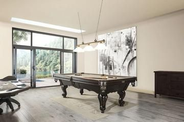 a classic style brown billiard table