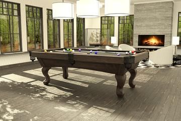 view of a classic style billiard table