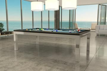 view of a custom billiards table